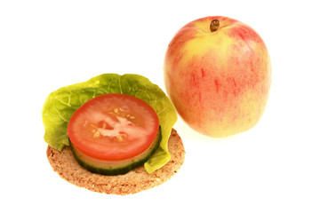 Oatcake with Tomato and Lettuce