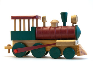 Toy Wooden Train Engine
