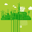 green eco town - sustainable development concept