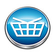 Blue basket web button for shopping