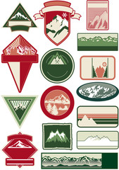 Mountain labels collection