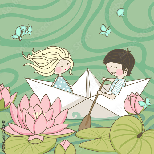 sailing on the lotus lake