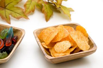 Kartoffelchips und Lakritze