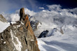 The Mont Blanc from the Aiguille du Midi