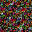 Abstract seamless grunge geometric pattern