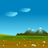 Mountains on the horizon vector
