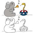 Elephant Snake Charmer