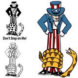 Tea Party Rattlesnake Uncle Sam poster