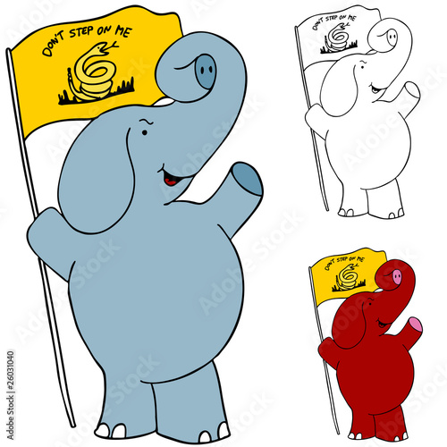Protest Flag Elephant