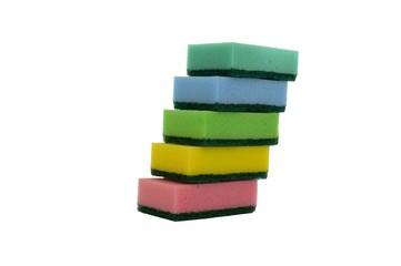 Цветные губки изолированные на белом