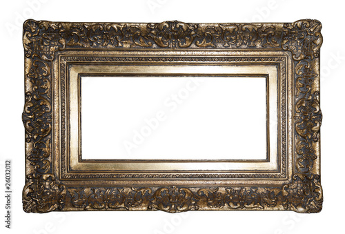 Foto op Plexiglas Retro Old gilded picture frame with clipping path