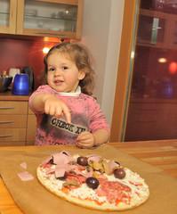 Little Girl Preparing Pizza 2