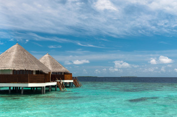 Maldives water bungalows