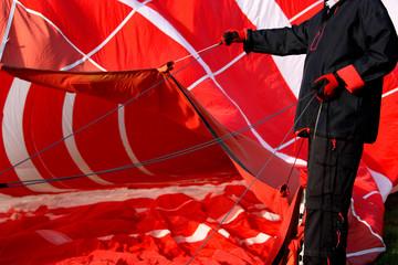 heißluftballon - rot