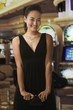 Glamorous mixed race woman in casino