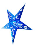 blue christmas star isolated on white background