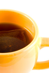 yellow cup of tea
