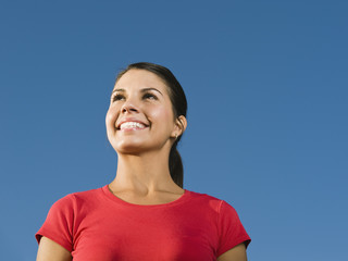Confident Native American woman smiling