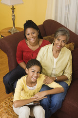 """""""African grandmother, mother and daughter bonding"""""""