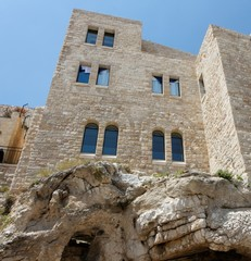 Building on the rock in Old City of Jerusalem