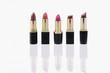 Studio shot of open lipsticks