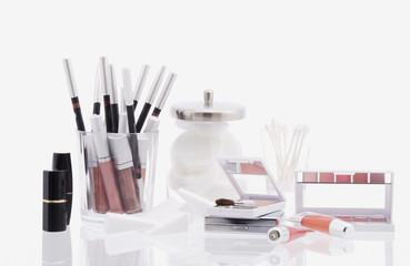 Studio shot of assorted makeup