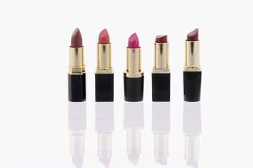 Studio shot of open lipsticks