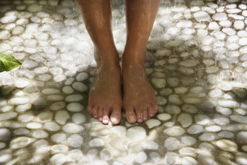 Close up of woman's bare feet