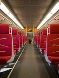 commuter train - empty passenger car poster