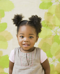 Portrait of African American girl