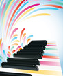 Multicolored piano background