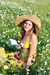 reading tender girl