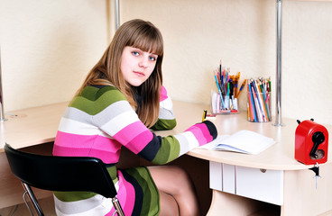 clever teen girl