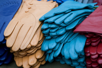 a stack of gloves