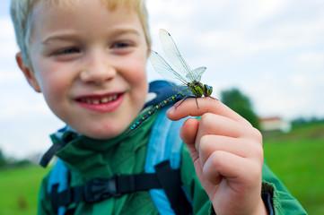 boy with dragonfly