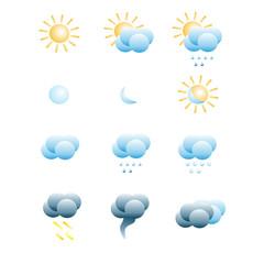 Set of weather icones