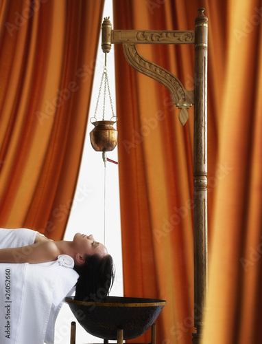 Woman having spa treatment