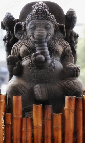 Close up of elephant statue