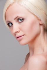 Close-up portrait of beautiful blonde