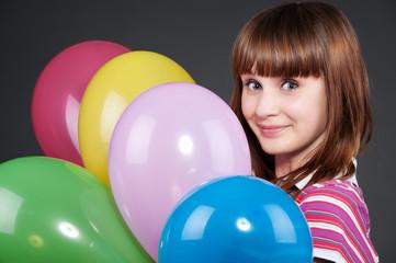 girl with montley balloons