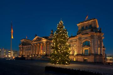Reichstag Berlin Weihnachten