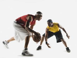 African men playing basketball