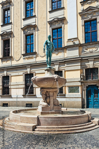 Statue in front of the university, Wroclaw, Poland © Frankix