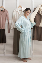 Mixed race woman dressing