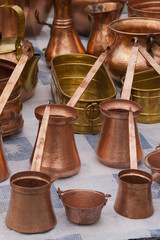 copper kettle and pot