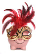 Piggy bank wearing party masquerade mask - 26059602