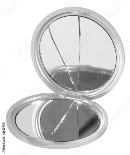 Broken mirror. Isolated - 26059611