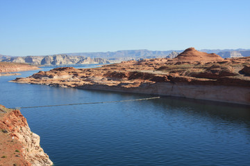 Colorado River at Glen Canyon Dam, Arizona