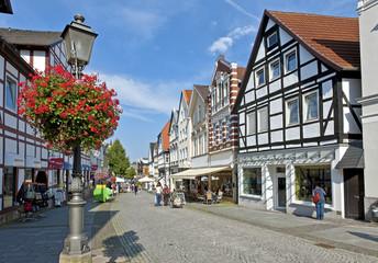 Die Fußgängerzone in Bückeburg