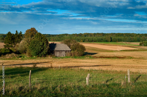 Summer landscape in rural Poland
